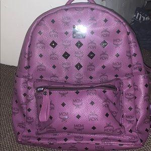 Purple mcm bag